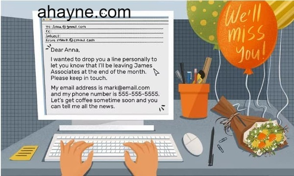 cách viết email chia tay đồng nghiệp