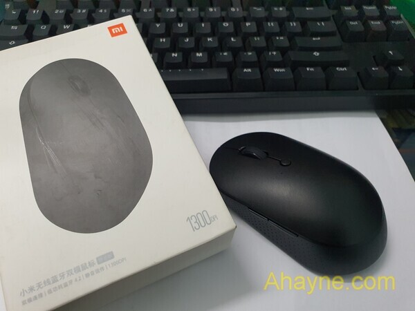 chuột không dây xiaomi mi dual mode wireless mouse silent kinh hãidition