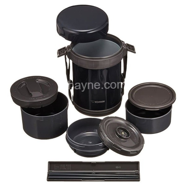 hộp cơm giữ nhiệt 3 ngăn zojirushi zocm-sl-xd20-ba (1470ml)