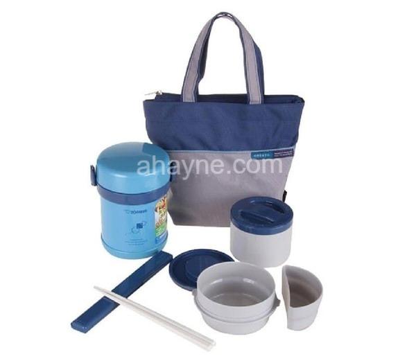 hộp cơm giữ nhiệt zojirushi 2 ngăn zocm-sl-mee07-ab (640ml)