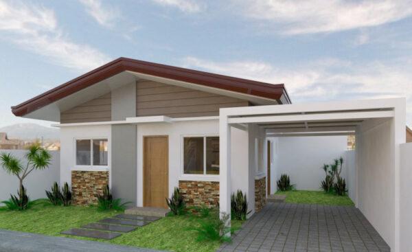 Mẫu nhà cấp 4 đẹp ở nông thôn giá rẻ từ 250 triệu GÂY BÃO năm 2019