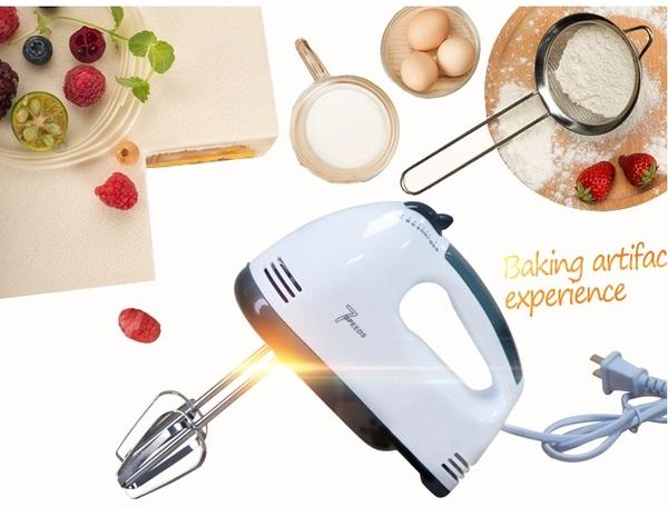 dụng cụ nhào bột trộn kem Đánh trứng cầm tay Đa năng 7 tốc Độ