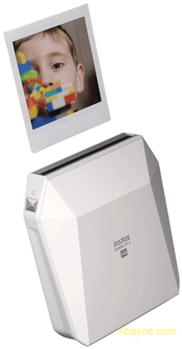 phiên bản thứ ba của máy in di động fujifilm, instax sp-3 in ảnh trên kích thước hình vuông 2,4 × 2,4 inch