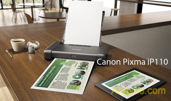 canon pixma ip110          phù hợp là máy in ảnh điện thoại mini cho dân văn phòng