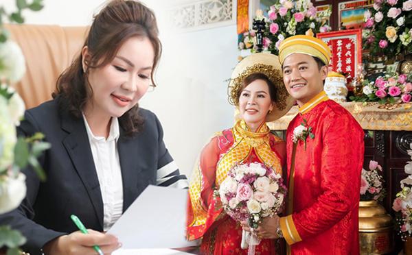 nhan sắc bà xã quý bình trong loạt ảnh cưới – nguồn ảnh: internet