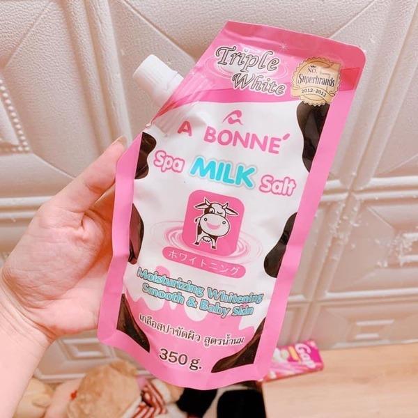 [review] muối tắm sữa bò a bonne - nguồn ảnh: internet