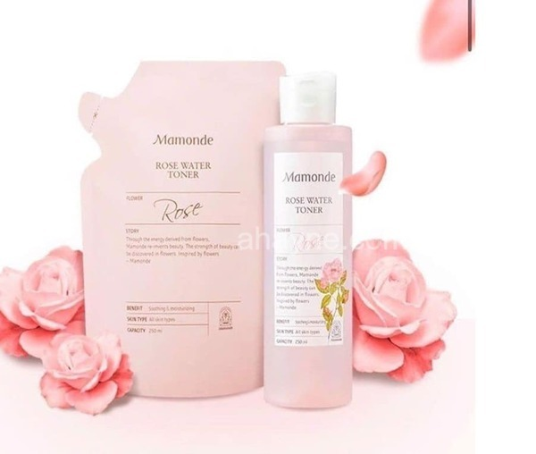 [review] nước hoa          đại dươngng mamonde rose water toner 250ml