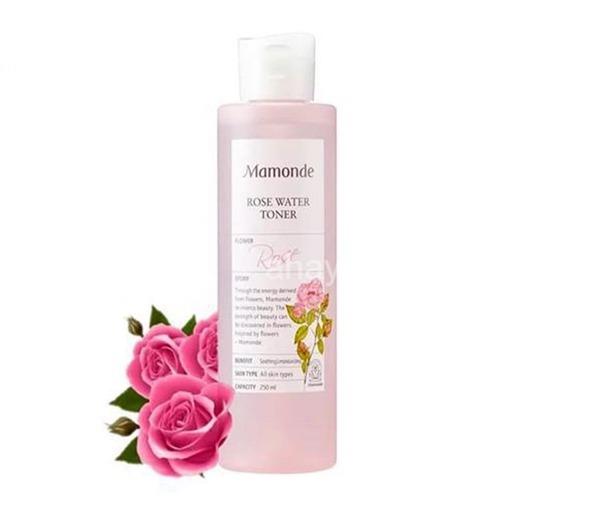 [review] nước hoa hồng mamonde rose water toner 250ml